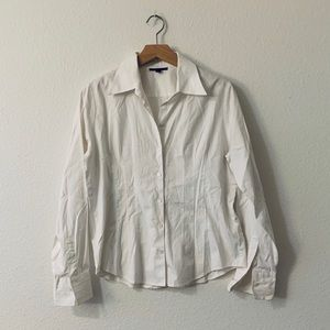 Anne Klein - Fitted white button up